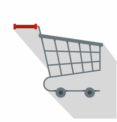 Shopping cart icon flat style vector