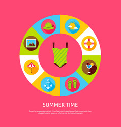 Summer time concept vector