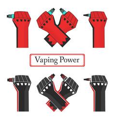 Vape power fists vector