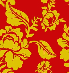 Russian national pattern hohloma traditional folk vector