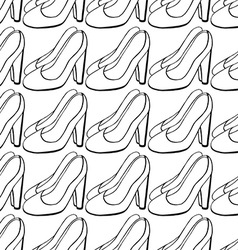 Shoe Pattern Background vector image