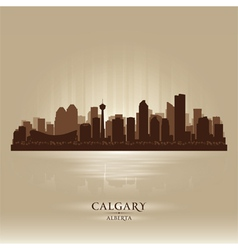 Calgary alberta skyline city silhouette vector