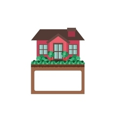 Comfortable house design with label vector