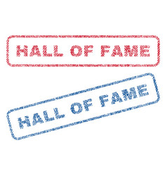 Hall of fame textile stamps vector