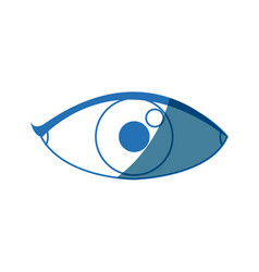 Eye people cartoon watch optic icon vector