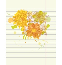 Hand drawing autumn flowers vector