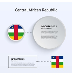 Central african republic country set of banners vector