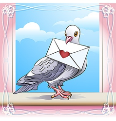 Pigeon with letter vector