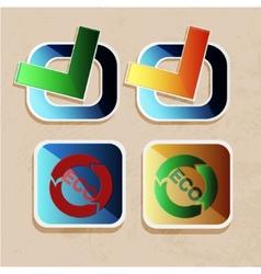 eco icons ok vector image