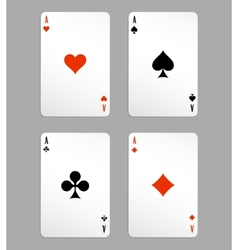 Ace playing cards vector
