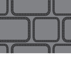 seamless background black pattern on gray vector image