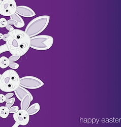 White easter bunny card in format vector
