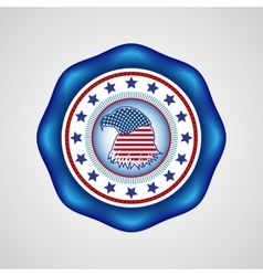 American independence day holiday badge vector