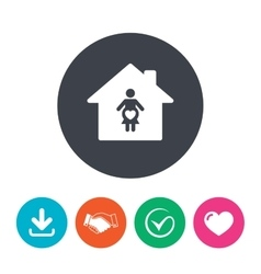 Maternity hospital pregnant icon pregnancy vector
