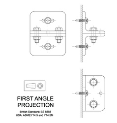 First angle orthographic projection vector