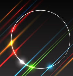Abstract background of glowing rays vector