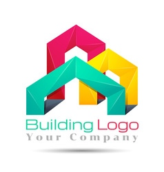 abstract city building composition sign icon vector image vector image