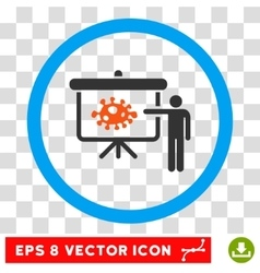 Bacteria lecture eps rounded icon vector
