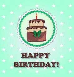 Birthday design over green background vector