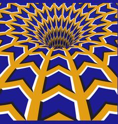 Blue arrows hole optical motion vector