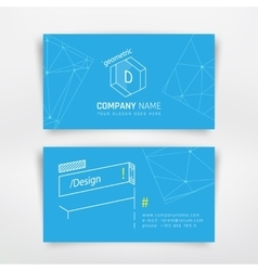 Business visit card vector
