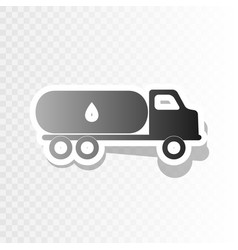 Car transports oil sign new year blackish vector
