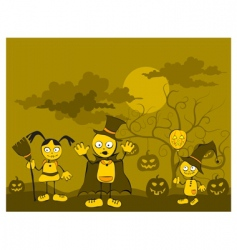 children against tree vector image vector image