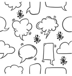 Collection stock of text balloon pattern vector
