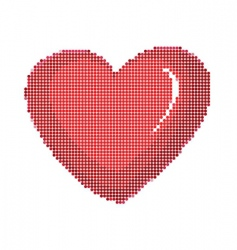 dot style heart vector image vector image