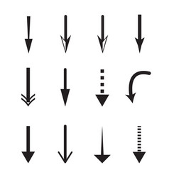 down arrow icon on white background down arrow vector image