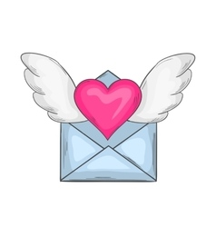 Email love icon vector image