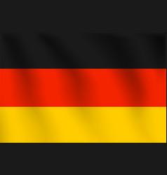 Germany flag realistic flag national symbol design vector