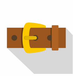 Gold buckle icon flat style vector