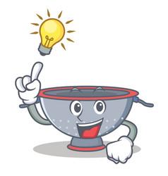 Have an idea colander utensil character cartoon vector
