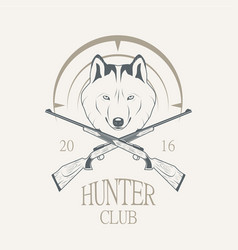 hunting club logo vector image vector image