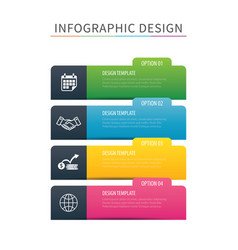 infographics tab index 4 option template vector image vector image