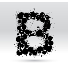 Letter B formed by inkblots vector image
