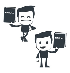 manual icon man vector image vector image