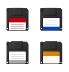 modern diskette on white background vector image vector image