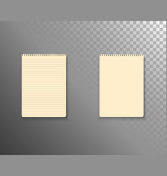 Notepad template realistic blank notepad textbook vector