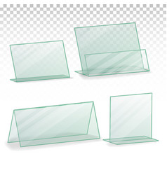Plastic holder empty plastic table holder vector