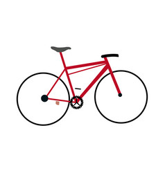 Red bicycle sport transport equipment vector