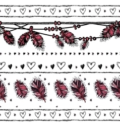 Romantic seamless pattern Valentine day Border vector image vector image