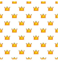 Royal crown pattern seamless vector