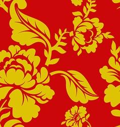 Russian national pattern hohloma traditional folk vector