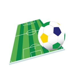 soccer ball and playground color vector image