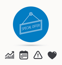 Special offer icon advertising banner tag sign vector