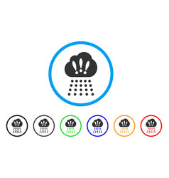 storm cloud rounded icon vector image