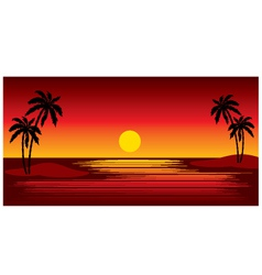 tropical islands with palm trees vector image vector image