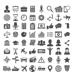 Universal icon set 64 icons vector image